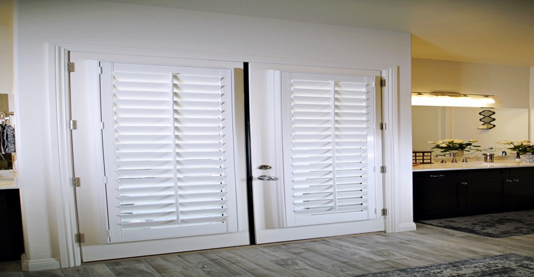 Shutters as a closet door