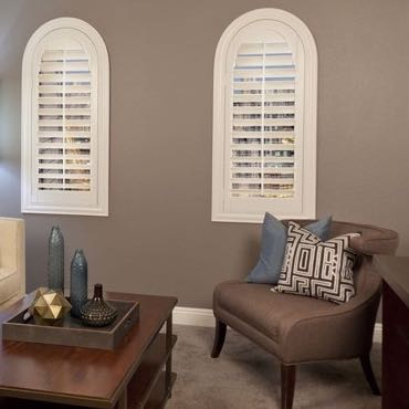Las Vegas family room interior shutters.