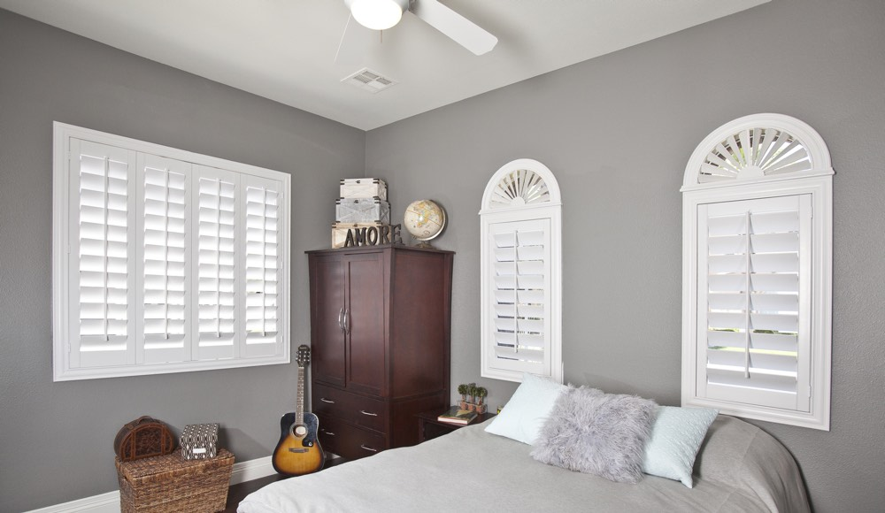Polywood Shutters In A Las Vegas Bedroom