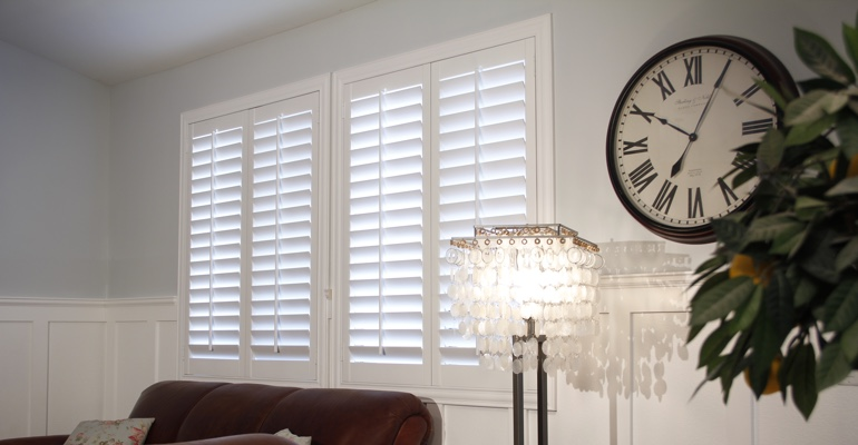 Las Vegas living room interior shutters